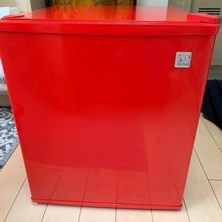 【冷蔵庫48ℓ】一人暮らし用の赤色冷蔵庫(1.5年使用)