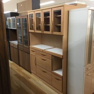 河口家具のナチュラル4枚扉レンジボード【トレファク 岸和田】