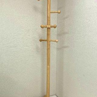 木製ポールハンガーラック 上着掛け 帽子掛け 木目ナチュラル JM...