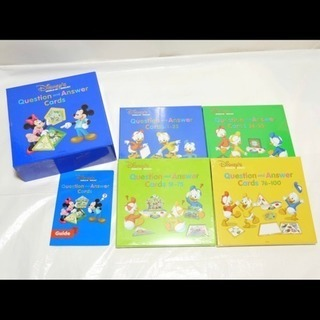 最新版 新品 未開封 両面デジタル Q&Aカード ディズニー英語システム