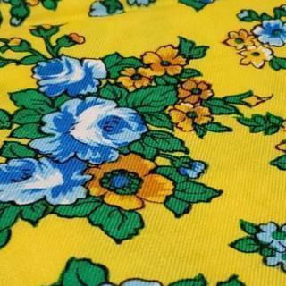 色違い 黄色の可愛い花柄