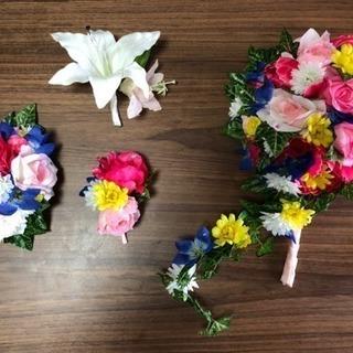 造花のブーケ&髪飾りセット