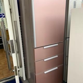 4ドア冷蔵庫 ピンク 2014年製 355L アクア AQR-SD36C