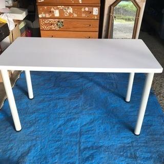 山善 テーブル ホワイト