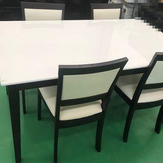 ダイニングテーブル イス 4脚セット モノトーン