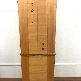 仏壇 2枚扉 上下分割可能 高さ135cm 仏具セット付き