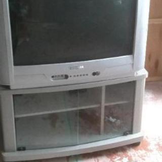 無料 あげます。ブラウン管テレビ