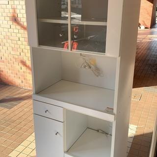 食器棚 ホワイト レンジボード