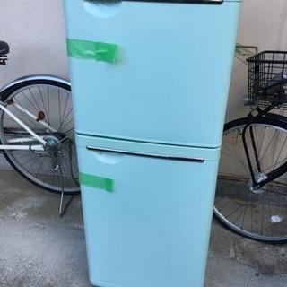 【中古】東芝 GRーN14T冷凍冷蔵庫 薄いグリーン色