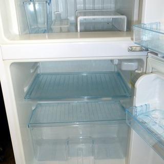 商談中となりました。Elabitax エラヴィタックス 2ドア冷凍冷蔵庫(96L・右開き) ホワイト ER-105-W(中古) - 家電