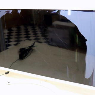 画面割れ ジャンク LG 32MP58HQ -W 液晶 ディスプ...
