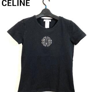 CELINE スワロフスキーロゴマーク入りTシャツ