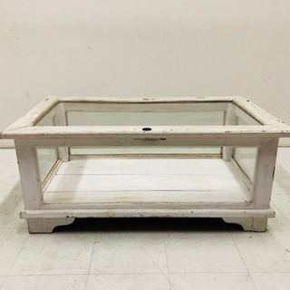 シャビーテイスト 収納コレクション テーブル  什器