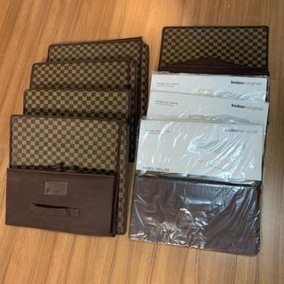 新品&美品❗️整理ボックス 8個セット 40x40x20センチ タイ製