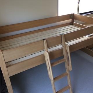 ほとんど使用してません ロフト ベッド 机セット