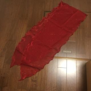 【美品】赤いショール