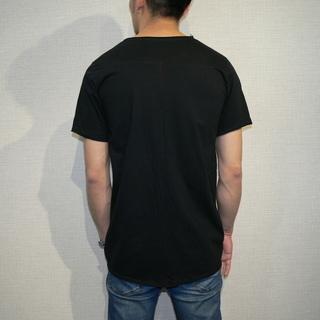 4004 カットオフ 貼り合わせ縫製 ストーンウォッシュ加工 UネックTシャツ【グランドオープン セール】 - 札幌市