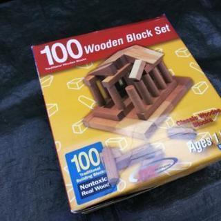 100ピース Wooden block 木製ブロック