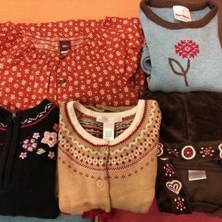 海外ブランド多数、女の子の子供服詰め合わせ(冬用)