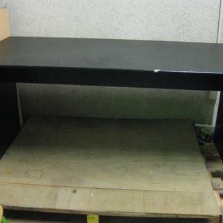 作業机 パソコンデスク 事務机 黒 幅150cm×奥行72cm×高...