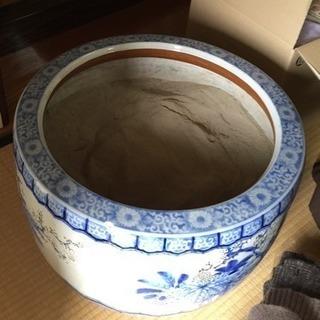 火鉢 陶器【5,000円で】レトロ 和家具 アンティーク