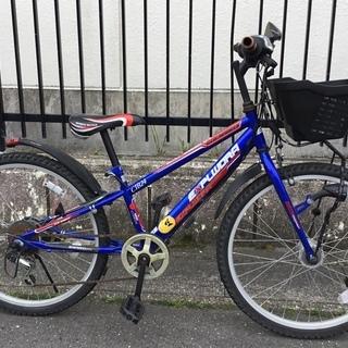 ■24インチ・ジュニア自転車 外装6段変速 色・ブルー LEDラ...