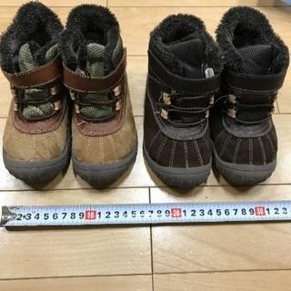 F。18㎝男児双子用靴〈秋冬用〉2点
