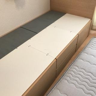 ニトリの収納付きシングルベッド(ポケットコイルのマットレス付き)