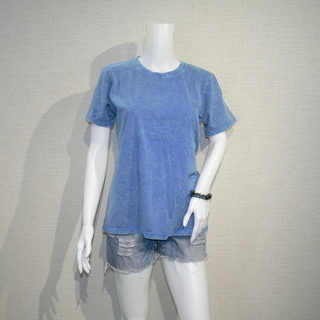 4004 スタンダード ストーンウォッシュ加工 UネックTシャツ...
