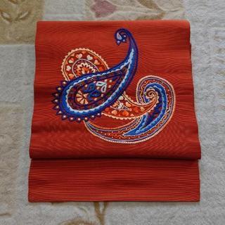 刺繍の帯 380cm  開き名古屋