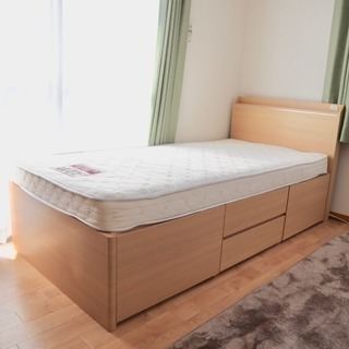 【中古・美品】ニトリの人気収納付きベッド