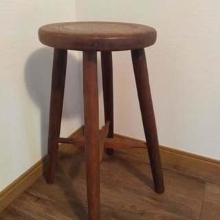 丸イス☆古道具雑貨屋で購入☆古材スツール椅子