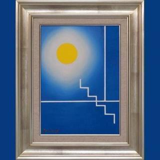 私が描いた油絵です。●『青の部屋』●がんどうあつし絵画F4号額付...