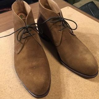 スウェードブーツ スペイン製本格革靴