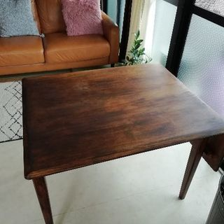 テーブル 無垢 天然木 インダストリアル古木風