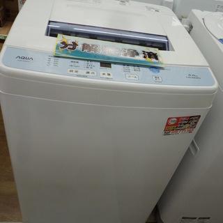 ,【引取限定】アクア AQW-S60F 洗濯機 6.0kg 20...