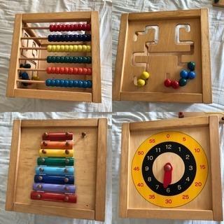 木製 知育玩具 様々な機能付き ワケあり 格安