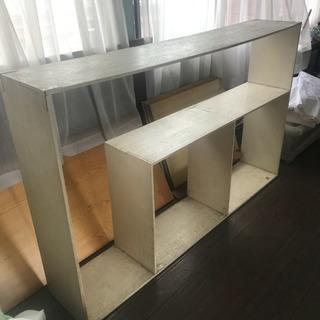 白 木製 DIY棚②