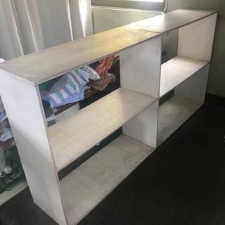 白 木製 DIY棚①