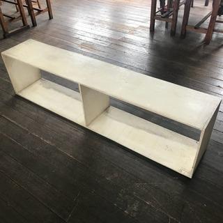 白 木製 DIY棚③