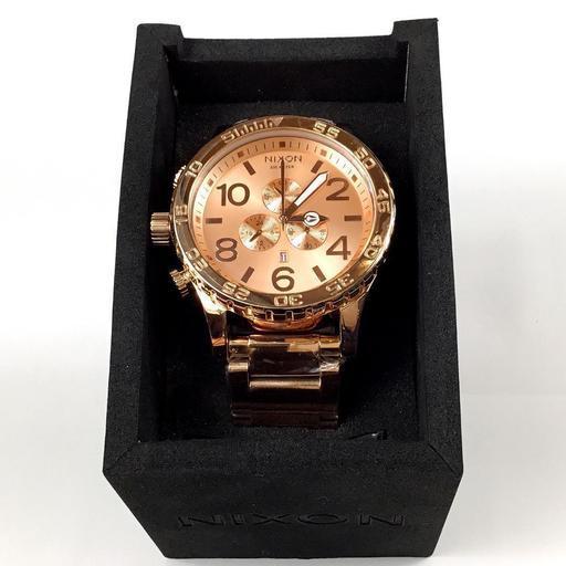 114ab95771 新品] [数量限定] ニクソン 腕時計 NIXON 51-30 クロノ オールピンク ...
