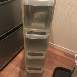 キッチン用 スキマ活用プラスチックキャビネット