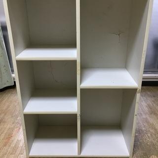 白いカラーボックス【無料】