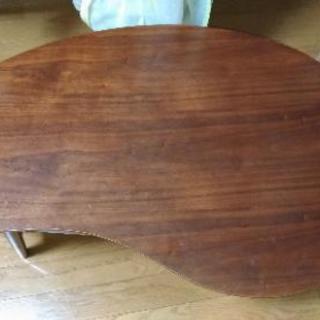 テーブル ちゃぶ台 豆型 ビーンズ型