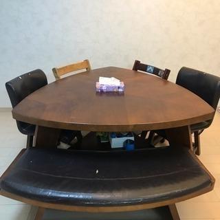 ダイニングテーブルセット椅子3脚と長椅子