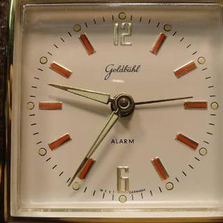 ビンテージGOLDBUHL社 ふくろう置時計 - 家具