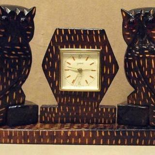 ビンテージGOLDBUHL社 ふくろう置時計の画像