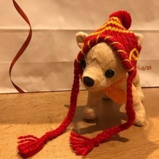 【美品】ペット用ニット帽 チワワなどの小型犬に!