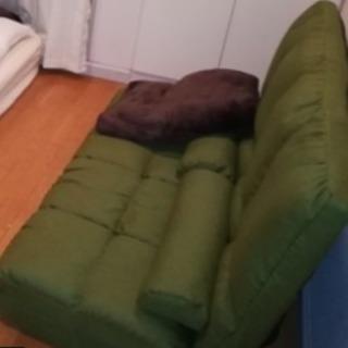 ソファ お譲りします 緑色