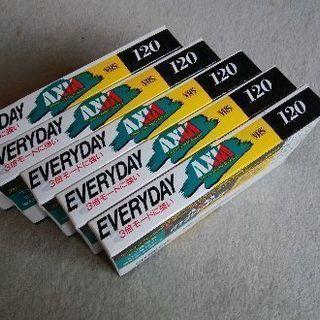 VHSビデオテープAXIA未使用5本